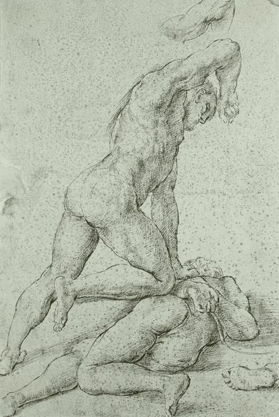 Kain erschlägt seinen Bruder Abel