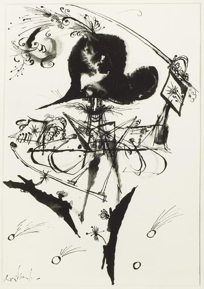 Illustration zum den Abenteuern des Freiherrn von Münchhausen