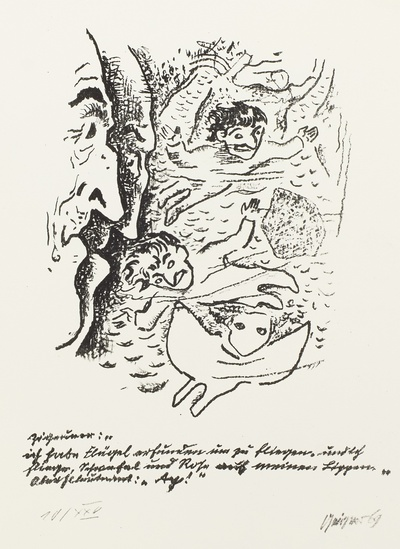 Illustration zu Federico Garcia Lorca: Dichtung vom Cante Jondo