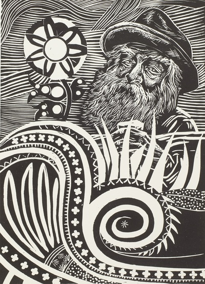 Illustration zu Walt Whitman: Hojas de Hierba