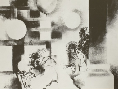 Illustration zu Maurice Carême: L'Arlequin