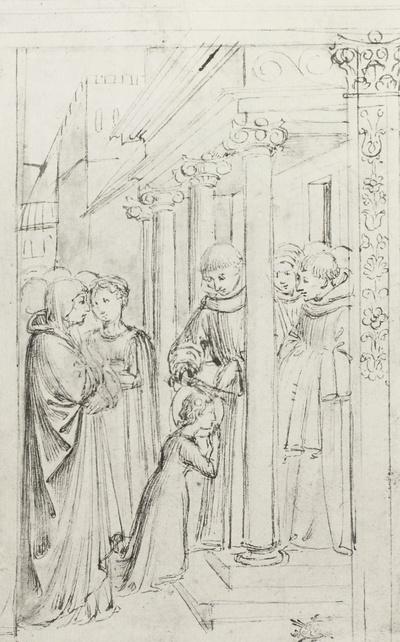 Die hl. Clara wird vom hl. Franciscus als Schwester aufgenommen