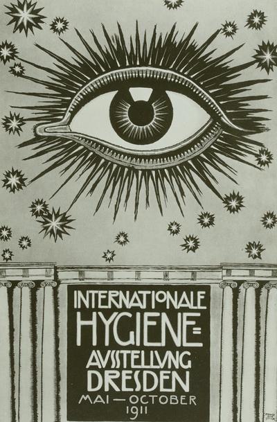 Plakat der Internationalen Hygiene-Ausstellung Dresden 1911