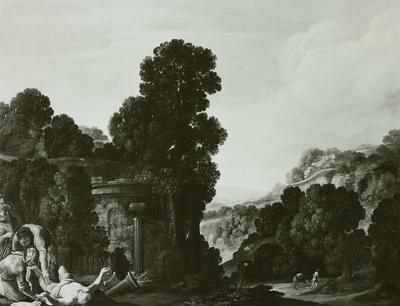 Römische Landschaft mit dem barmherzigen Samariter