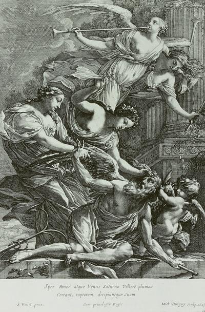 Hoffnung, Venus und Amor züchtigen Chronos