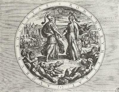 Image from object titled Die Verbindung von Roma und Batavia
