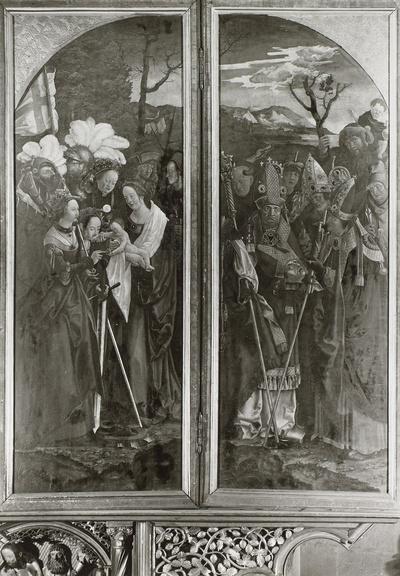 Christus und die 12 Apostel und Maria und die 14 Nothelfer