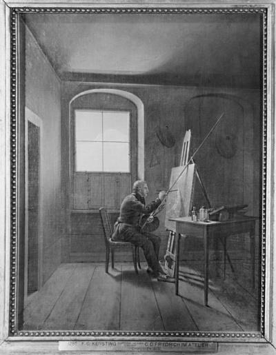 Caspar David Friedrich in seinem Atelier