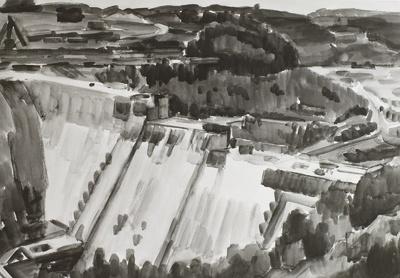 Talsperrenbau bei Gottleuba
