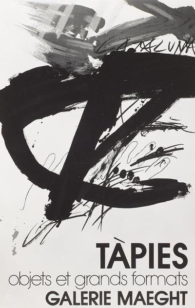 Objets et grand formats, Plakat der Galerie Maeght