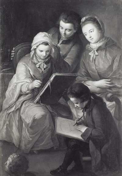 Gruppenbildnis der vier Kinder des Malers