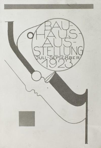 Postkarte zur Bauhaus-Ausstellung 1923
