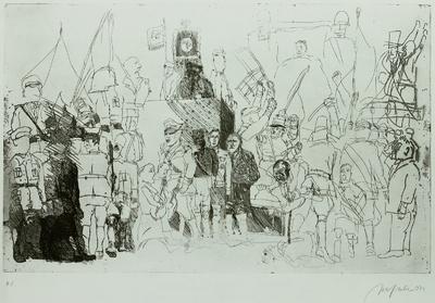 Ein Totentanz, Bl. 6: Paramilitärische Paralyse der Weimarer Republik