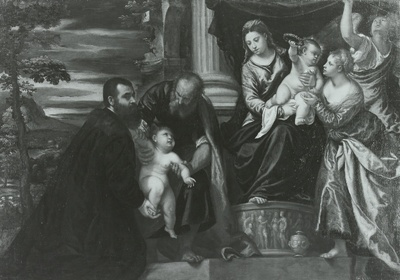 Die Madonna mit der heiligen Magdalena und einem venezianischen Patrizier
