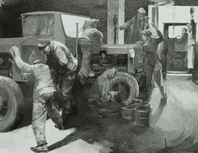 Startwettbewerb der Traktoristenlehrlinge der MTS Kemberg