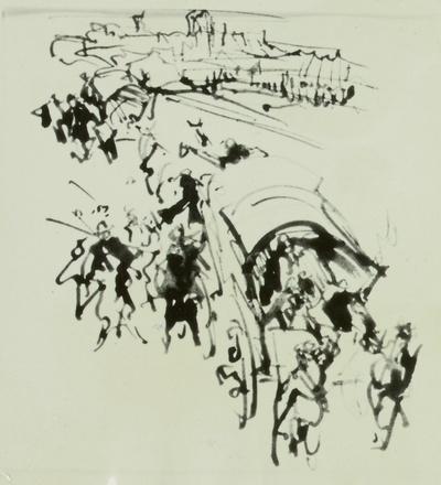 """Illustration zu E.T.A Hoffmann """"Das Fräulein von Scuderi"""""""
