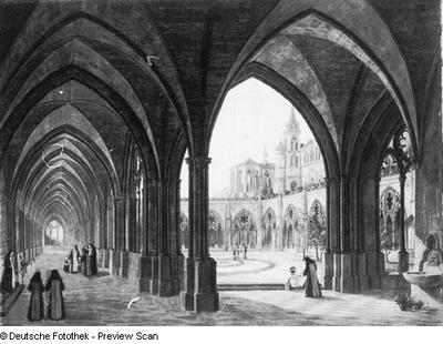 Kreuzgang eines Nonnenklosters