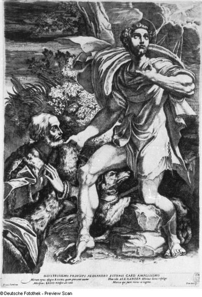 Der heilige Rochus bittet für einen Edelmann