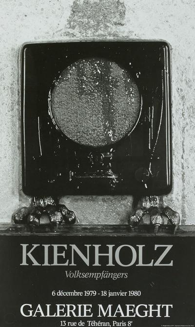 """Plakat der Galerie Maeght für die Ausstellung """" Volksempfänger"""" (6.12.1979-18.1.1980)"""