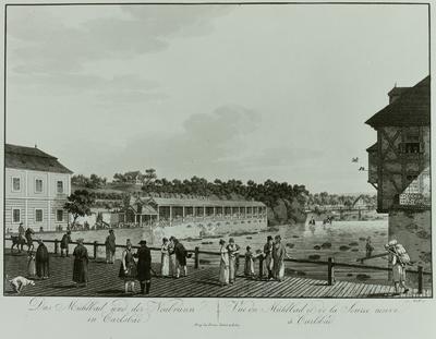 Das Mühlbad und der Neubrunn in Karlsbad