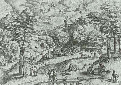 Landschaft mit Johannes dem Täufer