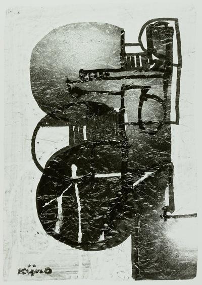 Figuration in Schwarz, Grau und Weiß