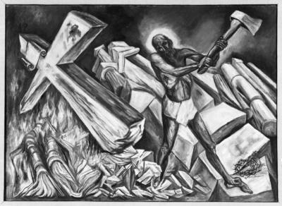 Christus zerstört sein Kreuz