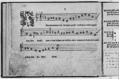 Geistliches Gesangbüchlein, Tenor-Stimmbuch