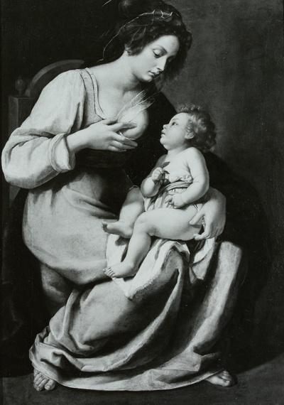 Maria mit dem Kind, genannt die Madonna mit den Kirschen