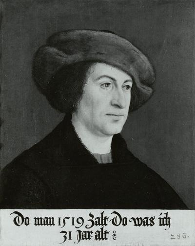 Bildnis eines Mannes in brauner Pelzmütze