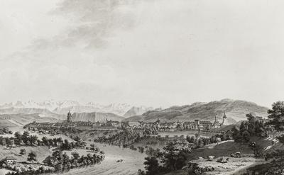 La ville de Berne du cote du Nord (Bern von der Nordseite)