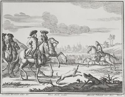 Reiter vor Stadtvedute