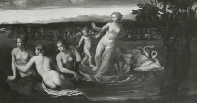 Venus von Schwänen gezogen