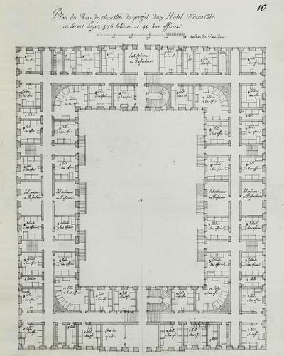 Plans, Perspectives et Elevations des quelques Maisons de Invalides
