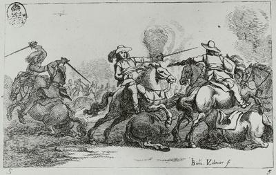 Reiter in einer Schlacht