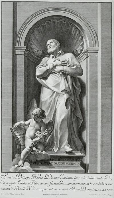 Statue des Heiligen Philipp Neri im Vatikan