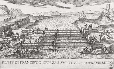 Image from object titled Die Brücke des Francesco Sforza über den Tiber (Belagerung Roms 1433)