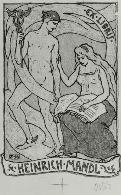 """Exlibris """"Heinrich Mandl"""""""
