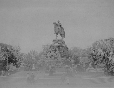 Reiterdenkmal für den 1. Präsidenten der Vereinigten Staaten George Washington