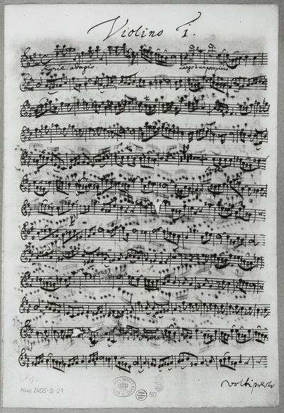 Stimmensatz: Kyrie eleison I (T. 1-101), Violine I