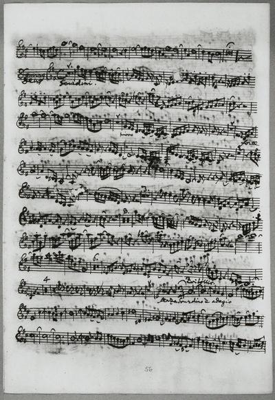 Stimmensatz: Gratias agimus tibi (T. 40-46.), Domine Deus (T. 1-95.), Qui tollis (T. 1-28), Violine I