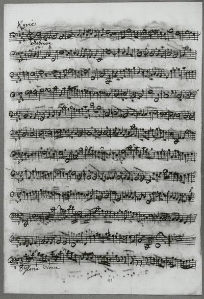 Stimmensatz: Kyrie eleison II (T. 1-59.), Gloria in excelsis (T. 1-12), Violoncello