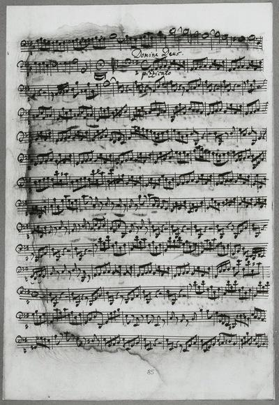 Stimmensatz: Gratias agimus tibi (T. 39-46.), Domine Deus (T. 1-84), Violoncello