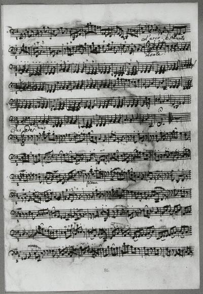 Stimmensatz: Domine Deus (T. 85-95.), Qui tollis (T. 1-50.), Qui sedes (T. 1-54), Violoncello