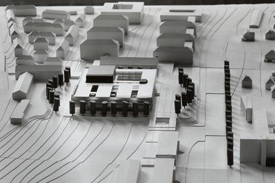 Dresden. Realisierungswettbewerb Neubau SLUB (04.1996), Teilnehmer Nr. 33. Modell