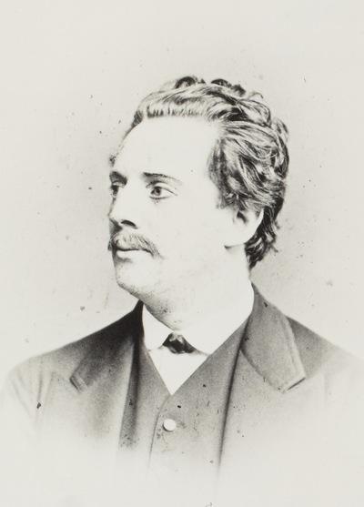 Portrat Eugen Hanstein 1839 1919 Schauspieler Albuminabzug Retuschiert Auf Karton Carte De Visite Mit Atelieraufdruck Verso