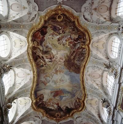 Exemtion des Klosters durch Papst Leo III. und Christenmartyrium am Marterberg in Regensburg; Parrkirche St. Emmeram