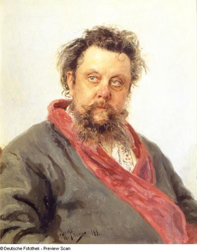 Bildnis Modest Mussorgski