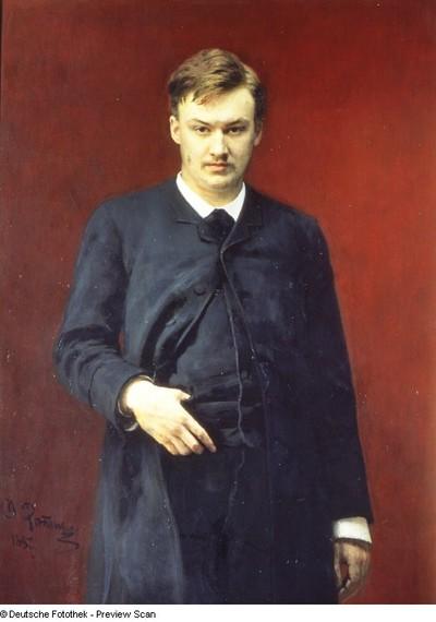 Bildnis des Komponisten A. Glasunow