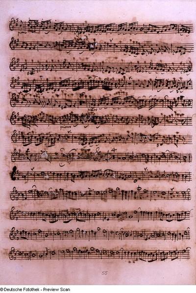 Stimmensatz: Laudamus te (T. 17-62.), Gratias agimus tibi (T. 1-40), Violine I